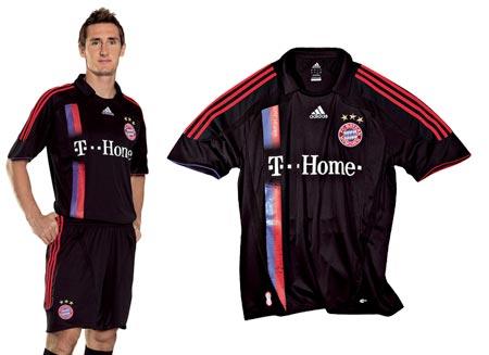 07-08赛季拜仁慕尼黑第二客场球衣