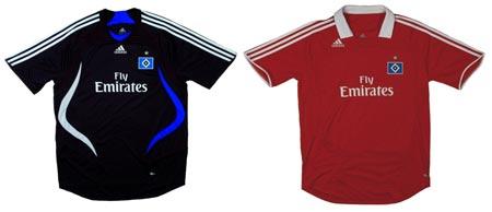 07-08赛季汉堡客场球衣