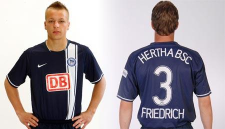07-08赛季柏林赫塔主场球衣