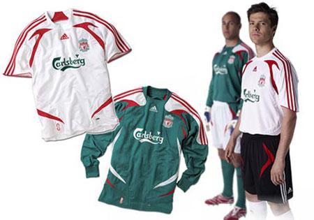 07-08赛季利物浦客场球衣