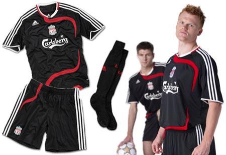 07-08赛季利物浦第二客场球衣