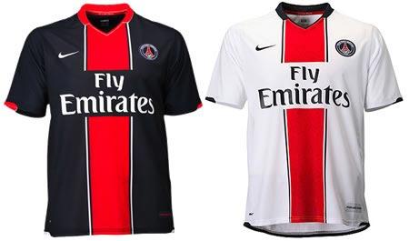 07-08赛季巴黎圣日耳曼主客场球衣