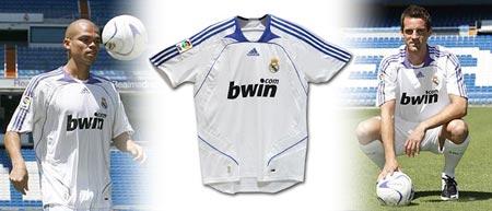07-08赛季皇家马德里主场球衣