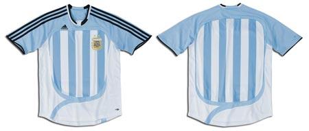 07女足世界杯阿根廷女足主场球衣