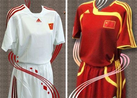 07女足世界杯中国女足主客场球衣