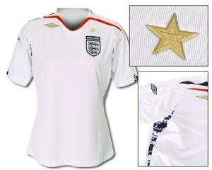 07女足世界杯英格兰女足主场球衣