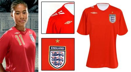 07女足世界杯英格兰女足客场球衣