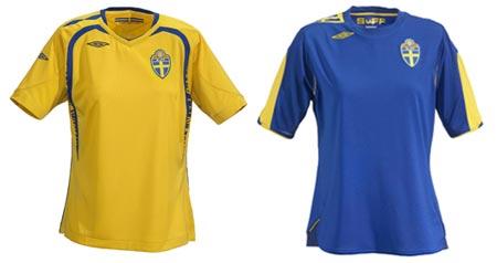 07女足世界杯瑞典女足主客场球衣