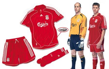 06-08赛季利物浦主场球衣