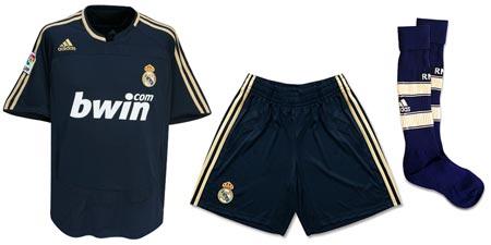 07-08赛季皇家马德里客场球衣