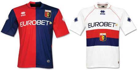 07-08赛季热那亚主客场球衣
