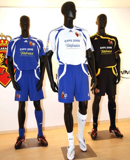 07-08赛季萨拉戈萨adidas主客场球衣