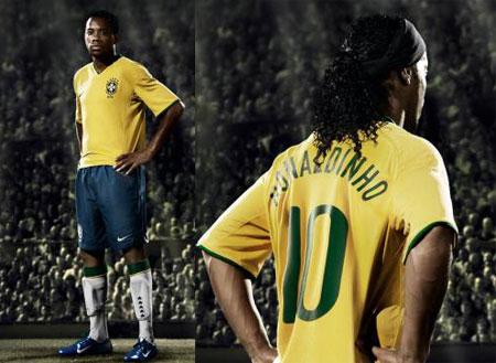 08-09赛季巴西主场球衣