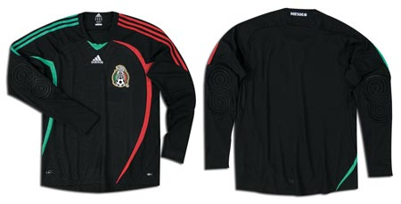 08-09赛季墨西哥国家队主场守门员球衣