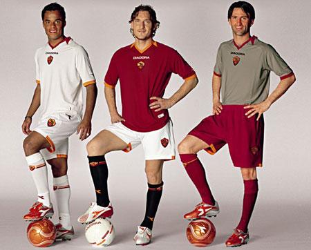 06-07赛季罗马主客场球衣
