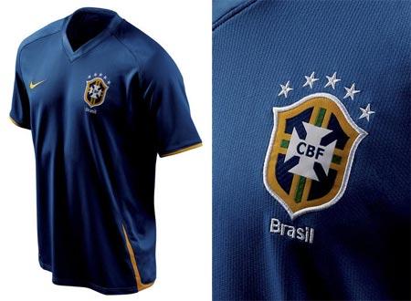 08-09赛季巴西客场球衣