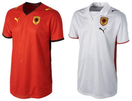 08-09赛季安哥拉主客场球衣