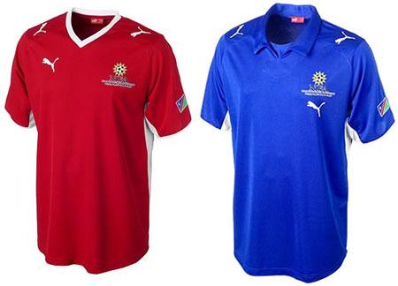 08-09赛季纳米比亚主客场球衣