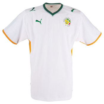 08-09赛季塞内加尔主场球衣
