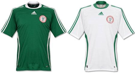 尼日利亚08-09赛季主客场球衣