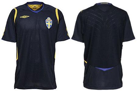 瑞典08-09赛季客场球衣