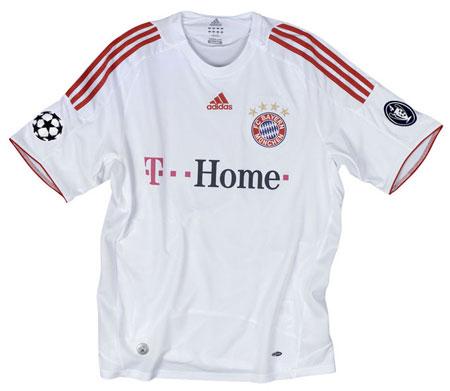 拜仁慕尼黑08-09赛季欧战客场球衣