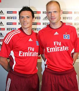 汉堡08-09赛季欧战客场球衣