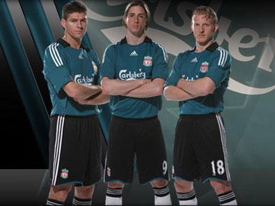 利物浦08-09赛季欧冠客场球衣