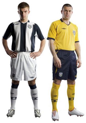 西布罗姆维奇08-09赛季主客场球衣