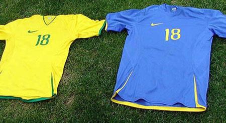 巴西国奥队2008奥运会主客场球衣