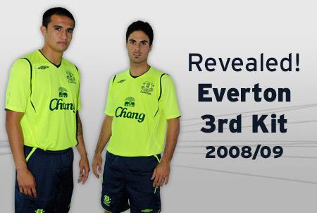 埃弗顿08-09赛季第二客场球衣