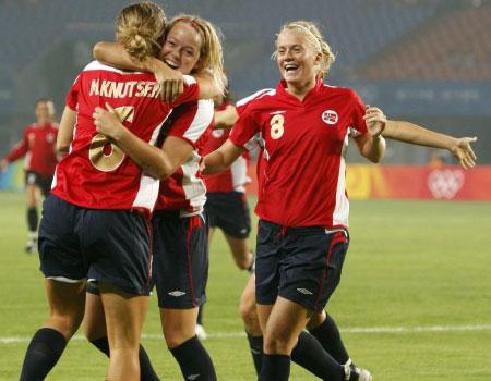 挪威女足2008奥运会主场球衣