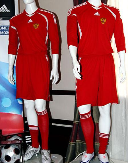 俄罗斯08-10赛季adidas主场球衣
