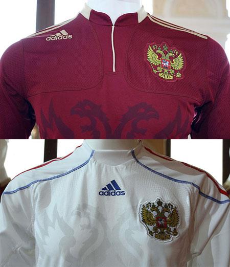 俄罗斯国家队09-10赛季主客场球衣