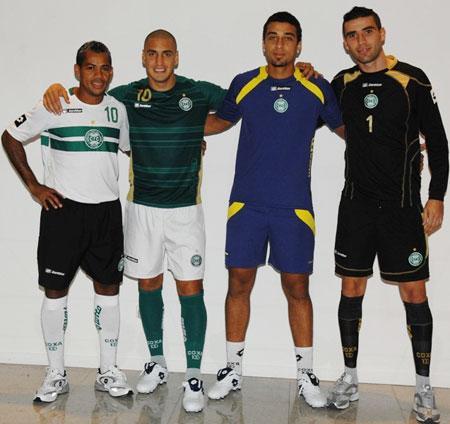 科里蒂巴2009赛季主客场球衣