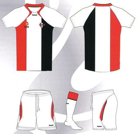 悉尼流浪者新队徽及2010-11赛季主客场球衣 © kitstown.com 球衫堂