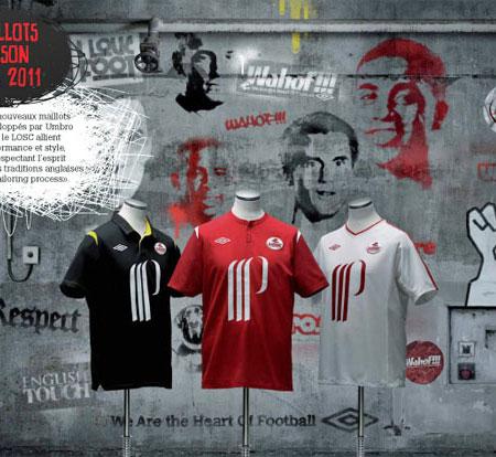 里尔2010-11赛季主客场球衣 © kitstown.com 球衫堂
