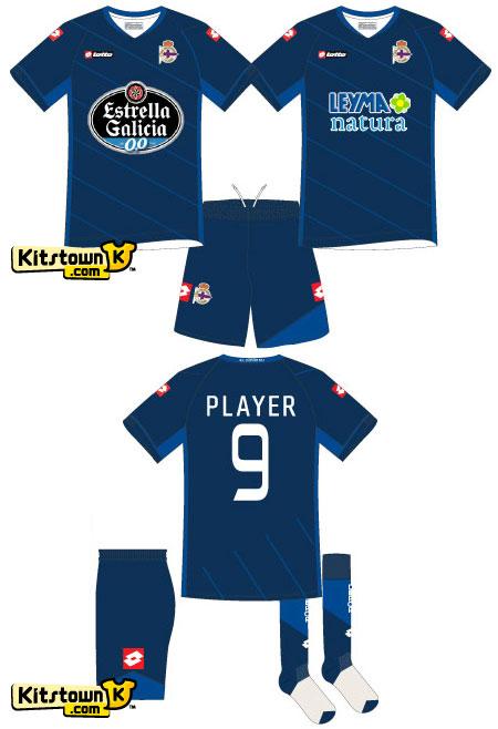 拉科鲁尼亚2011-12赛季主客场球衣 © kitstown.com 球衫堂