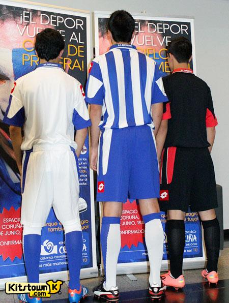 拉科鲁尼亚2012-13赛季主客场球衣 © kitstown.com 球衫堂