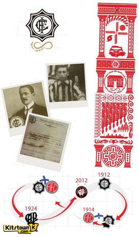 巴拉纳竞技百年纪念球衣 © kitstown.com 球衫堂