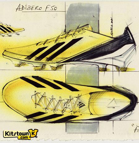 阿迪达斯全新adizero f50战靴 © kitstown.com 球衫堂