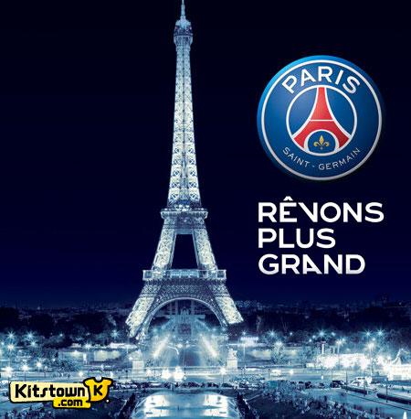 巴黎圣日耳曼推出新队徽 © kitstown.com 球衫堂