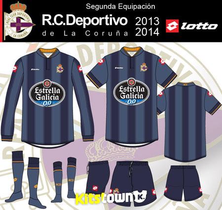 拉科鲁尼亚2013-14赛季主客场球衣 © kitstown.com 球衫堂