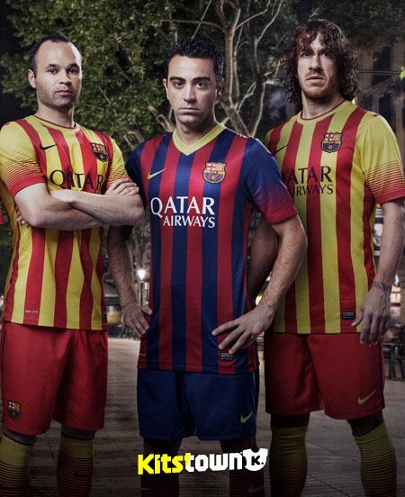 巴塞罗那2013-14赛季主客场球衣 © kitstown.com 球衫堂