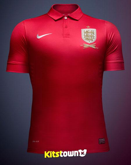 英格兰国家队2013赛季客场球衣 © kitstown.com 球衫堂