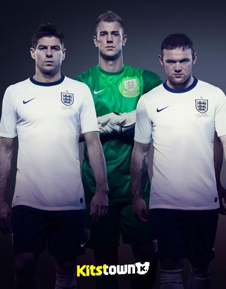 英格兰国家队2013赛季主场球衣 © kitstown.com 球衫堂