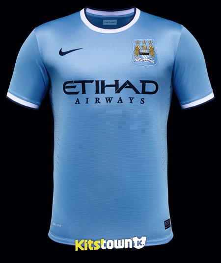 曼彻斯特城2013-14赛季主场球衣 © kitstown.com 球衫堂
