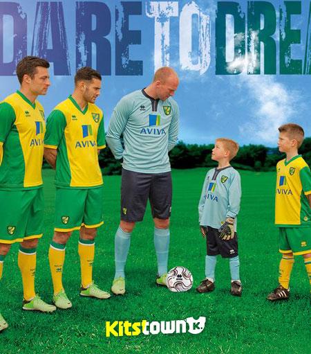 诺维奇城2013-14赛季主场球衣 © kitstown.com 球衫堂