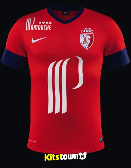里尔2013-14赛季主客场球衣 © kitstown.com 球衫堂