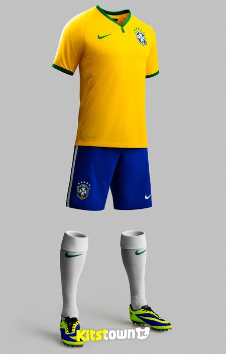 巴西国家队2014世界杯主场球衣 © kitstown.com 球衫堂